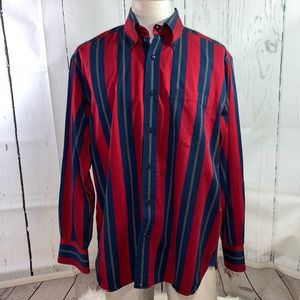 Tommy Hilfiger Mens M Striped button down shirt